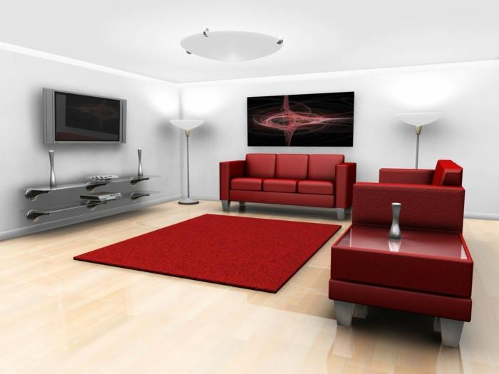 moderne-teppiche-rote-farbe