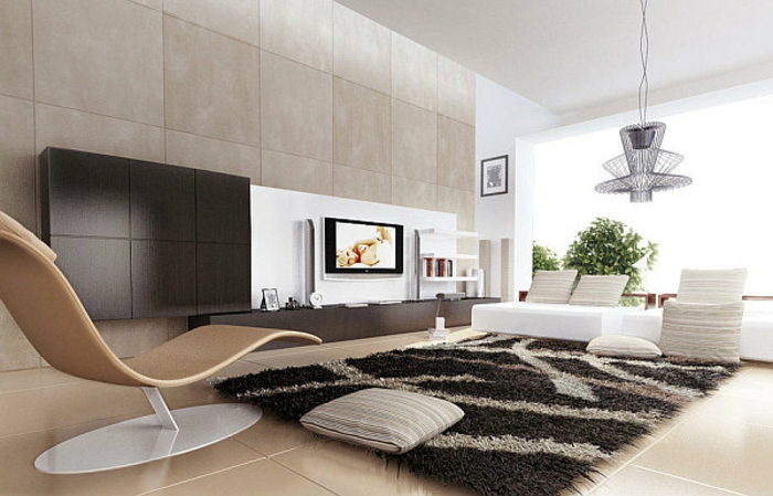 moderne-teppiche-schöner-liegestuhl
