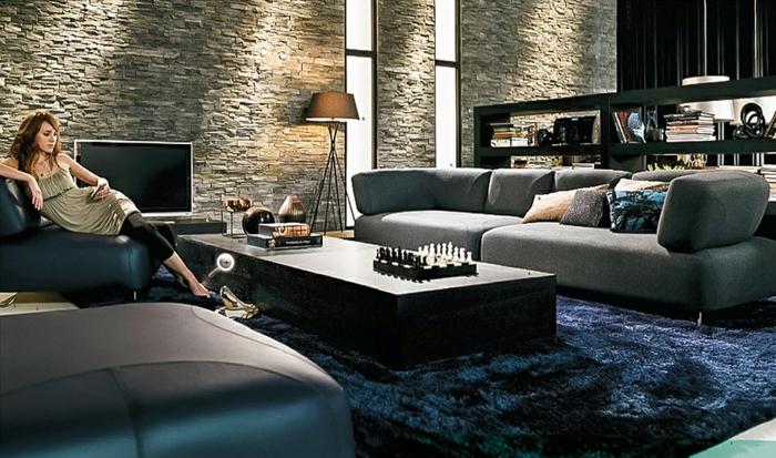 moderne-teppiche-schwarzes-design