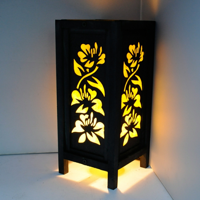 orientalische-Lampe-japanisches-Holz-Hibiskus-Blume-Muster