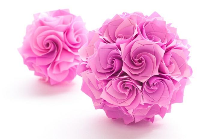 origami-blume-ball-rosa-Rosen-romantisch-herrlich