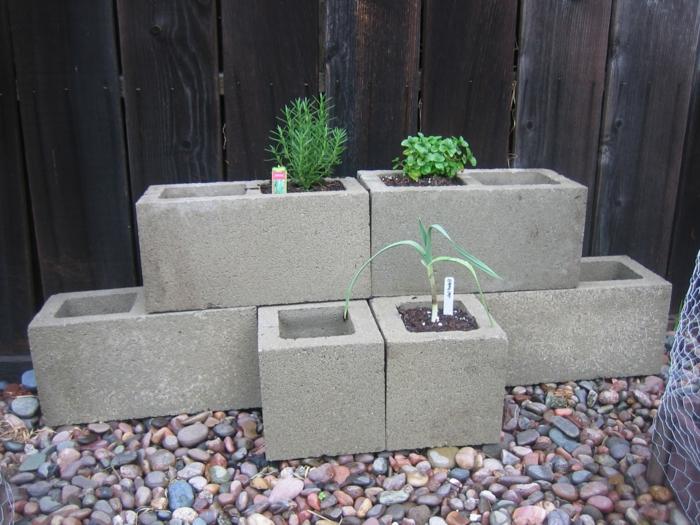 pflanzkübel-aus-beton-schwarzer-hintergrund
