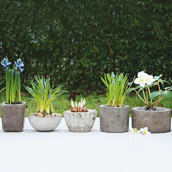 pflanzk bel aus beton 70 unikale bilder. Black Bedroom Furniture Sets. Home Design Ideas