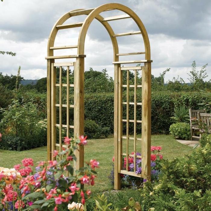 einige wundervolle bilder von rosenbogen aus holz. Black Bedroom Furniture Sets. Home Design Ideas