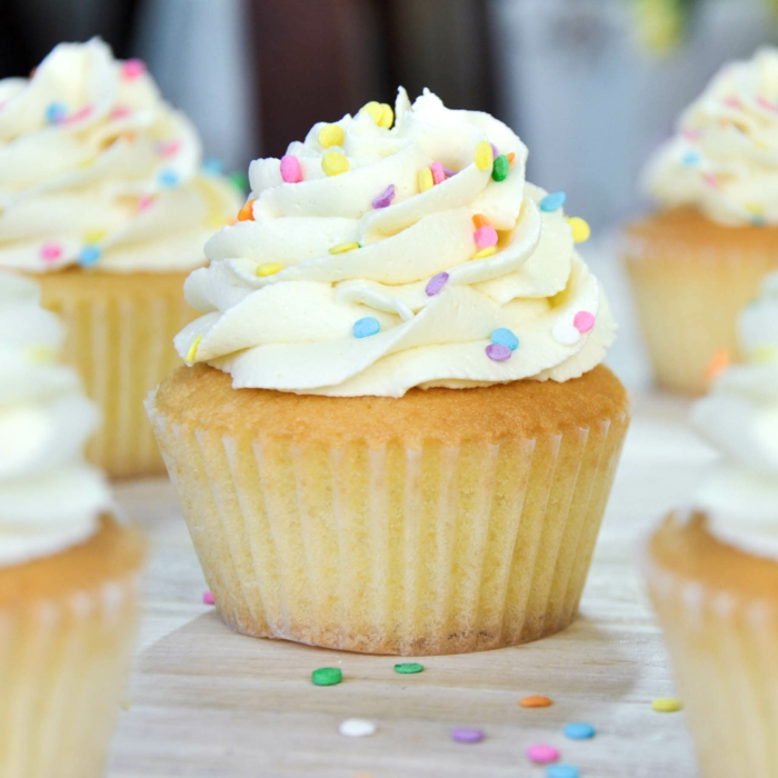 schöne-süße-Cupcakes-Vanille-Späne-Dekoration-Anlass-Geburtstag