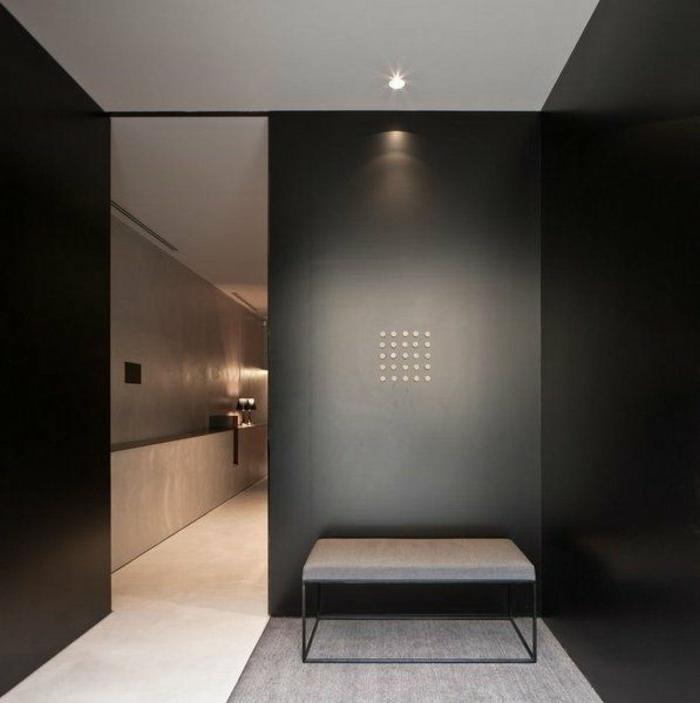 schiebetür-schwarz-stilvoll-effektvoll-matt-Punkte-Dekoration-elegantes-Design