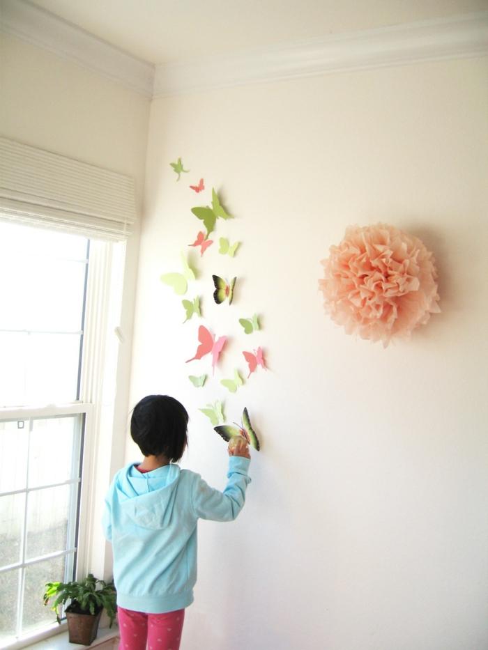 Kinderzimmer wandgestaltung schmetterling  40 super Ideen für Schmetterlinge Deko! - Archzine.net