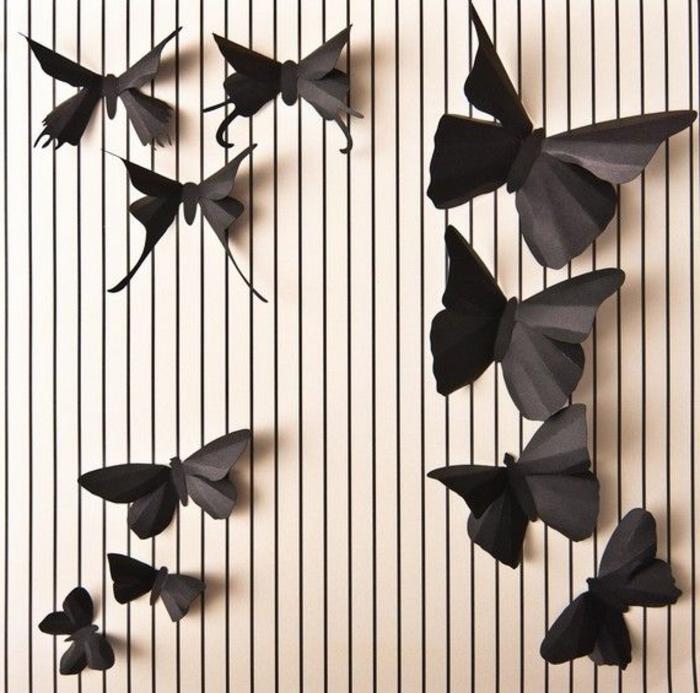 schmetterlinge-deko-schwarze-modelle