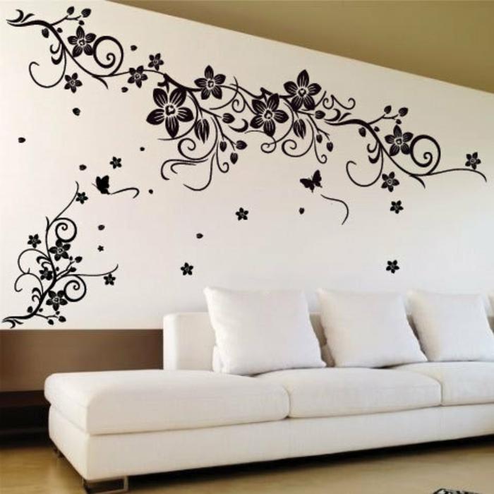 schmetterlinge-deko-weißes-sofa