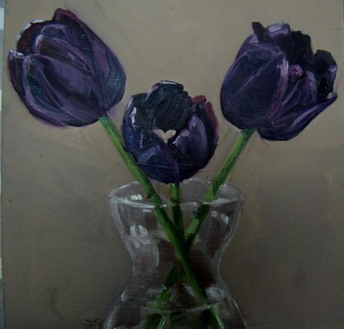 schwarze-Tulpen-Bild-malerisch-artistisch-schön