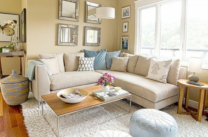 Der shaggy teppich eine echte attraktion im zimmer - Kleines wohnzimmer groayes sofa ...
