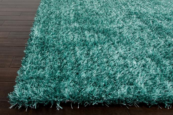 shaggy-teppich-einmalige-gestaltung-blaue-farbe
