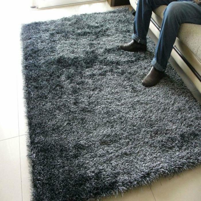 shaggy-teppich-graune-farbe-super-schönes-aussehen