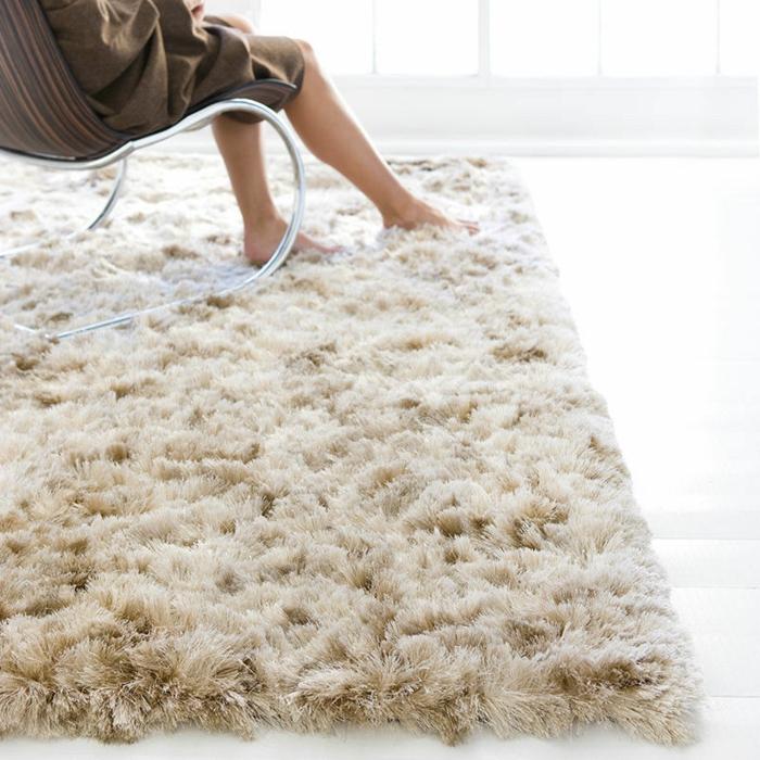 shaggy-teppich-wunderschöne-weiße-gestaltung