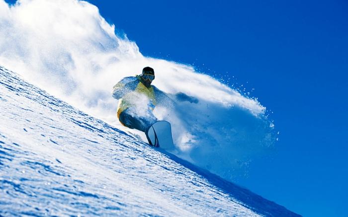 interessante snowboarding wallpaper - blauer hintergrund
