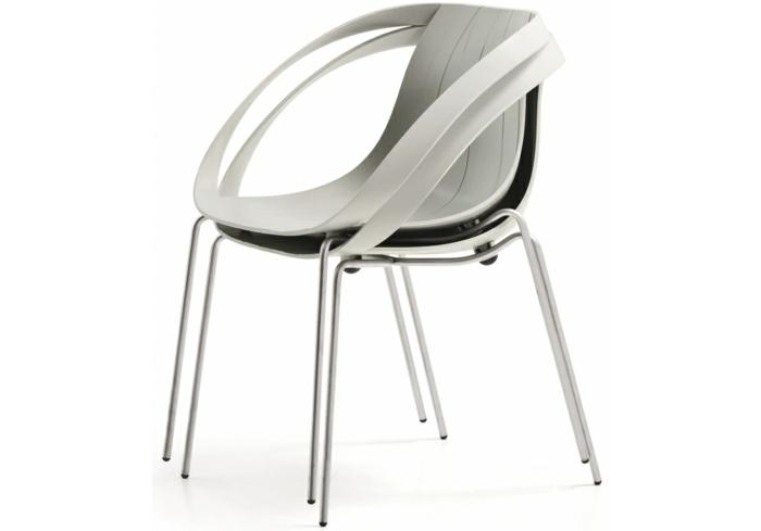 stühle-mit-ablehne-einmaliges-weißes-modell