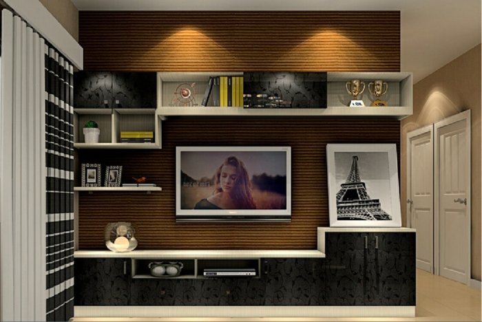 35 kreative gestaltungen mit tv wandschrank for Schaukelstuhl 3d modell