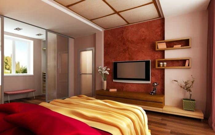 tv-wandschrank-gemütliches-ambiente-im-schlafzimmer