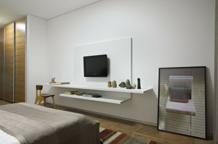 35 kreative gestaltungen mit tv wandschrank - Sehr kleines schlafzimmer ...