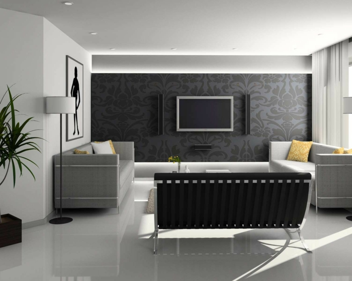 35 kreative gestaltungen mit tv wandschrank. Black Bedroom Furniture Sets. Home Design Ideas