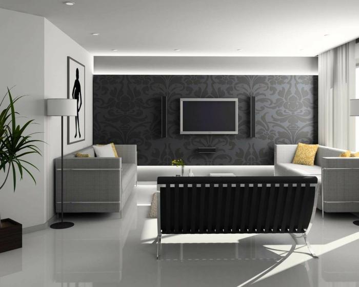 Weißes und süßes Modell TV-Wandschrank