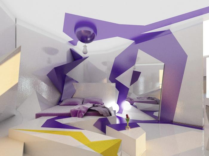 Verrückte Wohnideen Lila Schlafzimmer