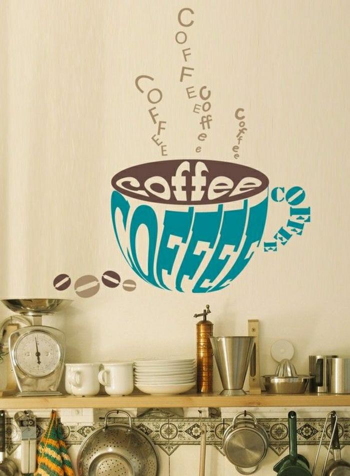 vintage-Küche-wandsticker-Kaffeetasse-gemütlich
