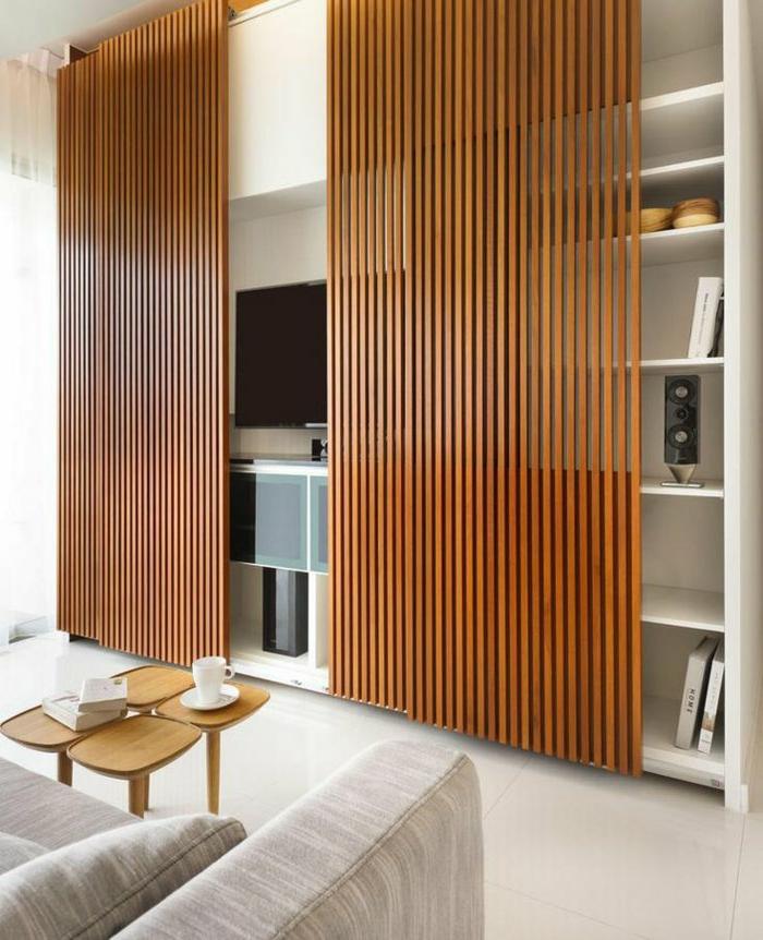 vintage-Wohnzimmer-Gestaltung-Designer-Couchtisch-Schiebetür-interessantes-Design
