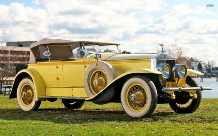 vintage-auto-1929-Rolls-Royce-gelb-resized