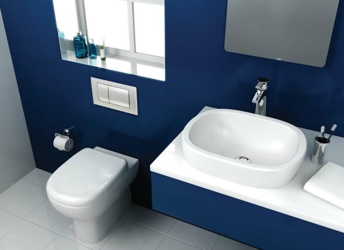 Was denken sie ber die wandfarbe blau - Wandfarbe bad ...