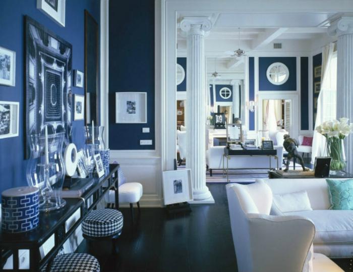 Wohnzimmerwand ideen blau  Awesome Wohnzimmer Wandfarbe Blau Gallery - House Design Ideas ...