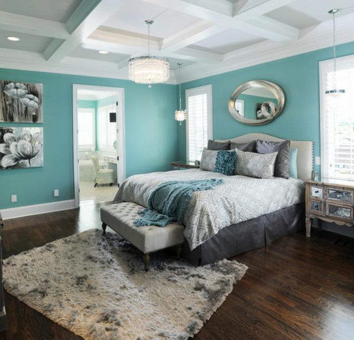wandfarbe-blau-originelles-design-vom-schlafzimmer