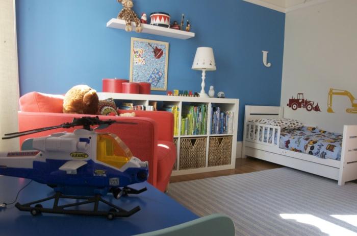 wandfarbe-blau-originelles-kinderzimmer-gestalten