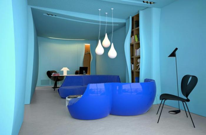 Wohnzimmer Wandfarbe Blau: Pastell wandfarben zart und leidenschaftlich beeindrucken.