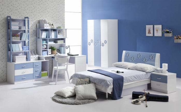 Einrichtungsideen Schlafzimmer Blau: Einrichtungsideen ... Blaue Wnde Schlafzimmer
