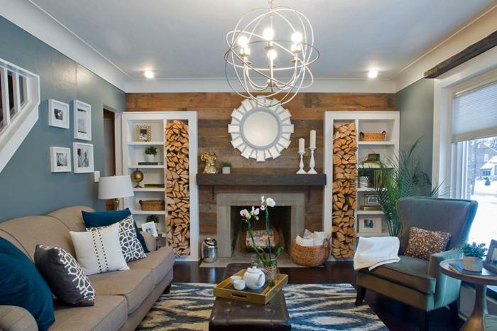 Emejing Farbgestaltung Wohnzimmer Blau Ideas - House Design Ideas