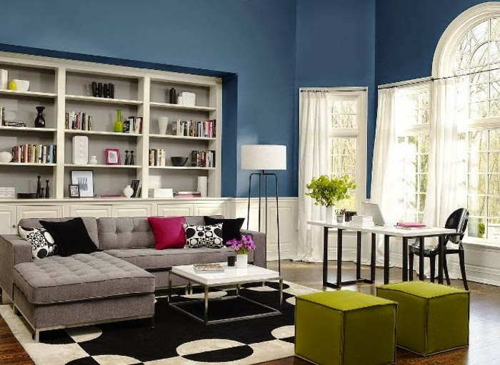 was denken sie ber die wandfarbe blau. Black Bedroom Furniture Sets. Home Design Ideas