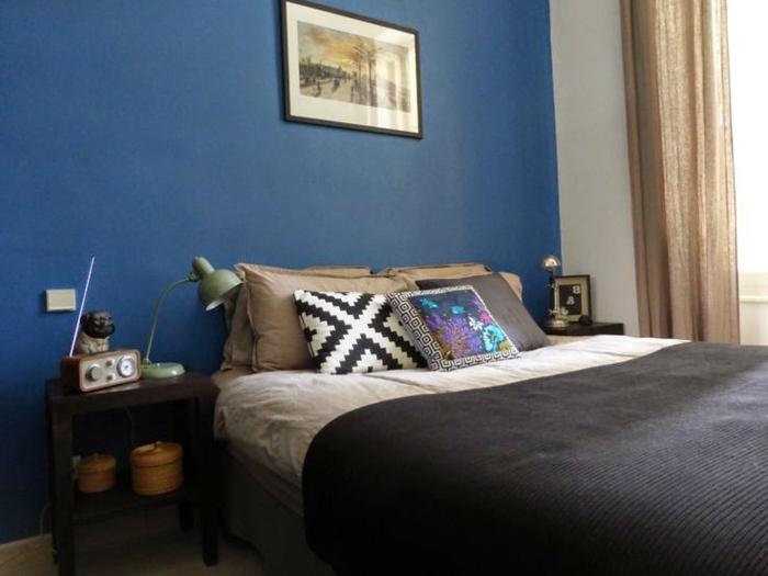 was denken sie ber die wandfarbe blau - Schlafzimmer Blaue Wand