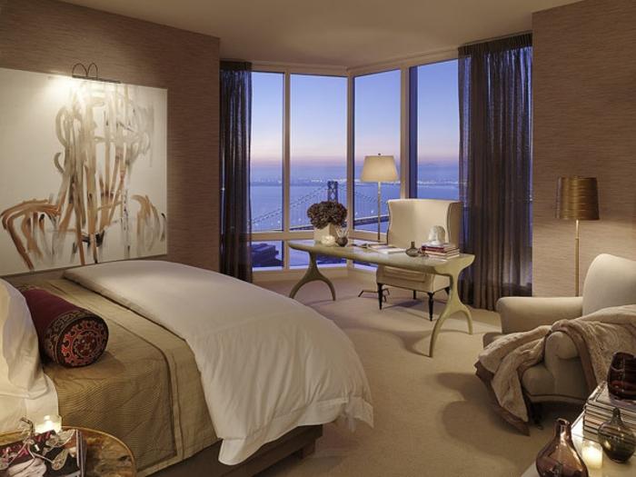 ... schöne wandfarben kombinationen - für ein romantisches schlafzimmer