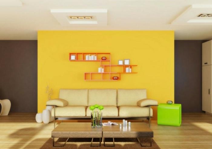 wandfarben-kombinationen-interessantes-wohnzimmer
