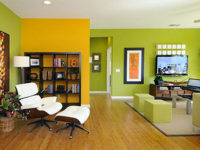 wandfarben wohnzimmer - welche farbtöne kommen in die engere wahl ... - Wohnzimmer Grun Gelb