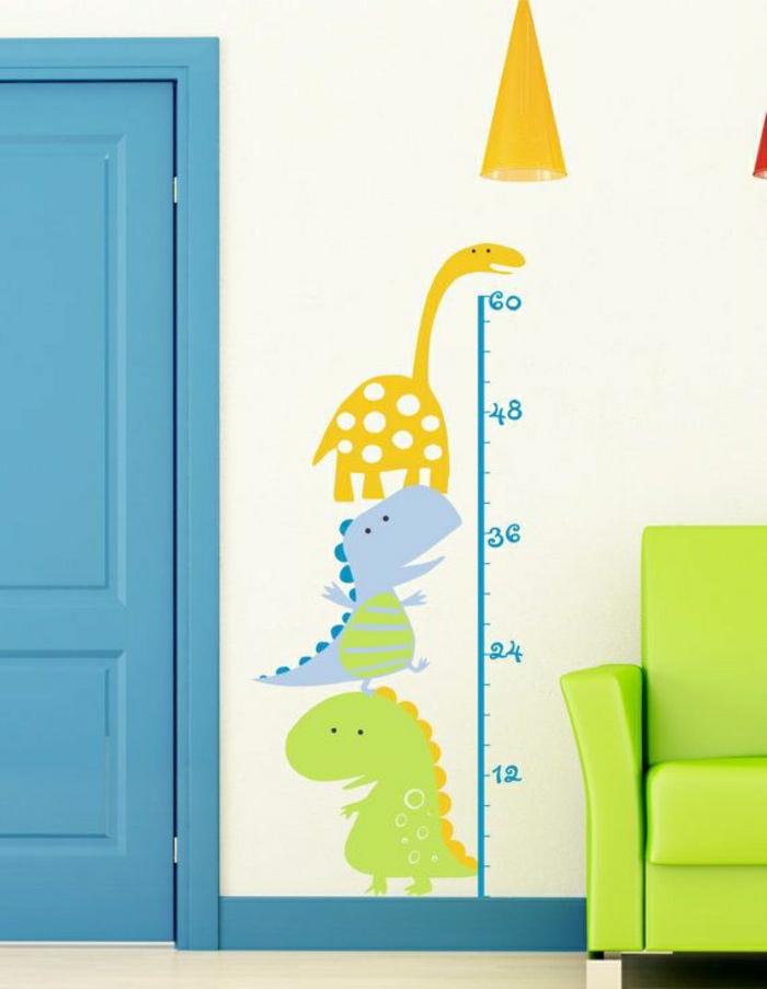 wandsticker-Kinderzimmer-Dinosaurier-Linie-grünes-Sofa