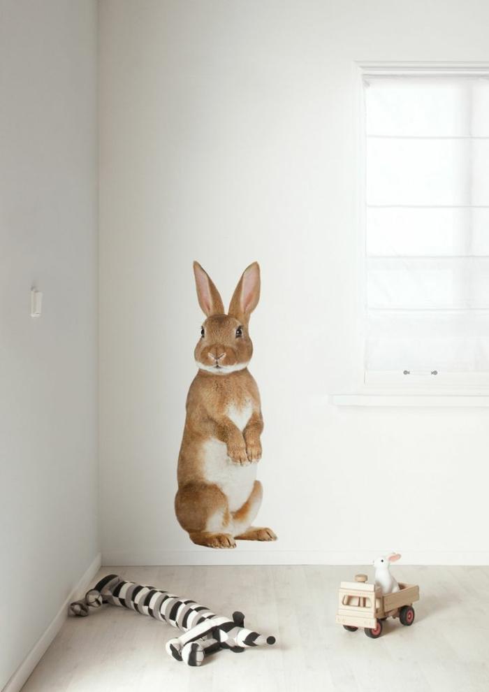 wandsticker-Kinderzimmer-Hase-Waldtier
