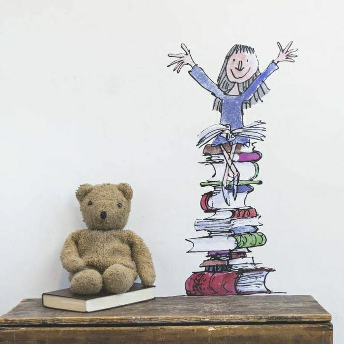 wandsticker-Matilda-ihre-Bücher-Kinderzimmer