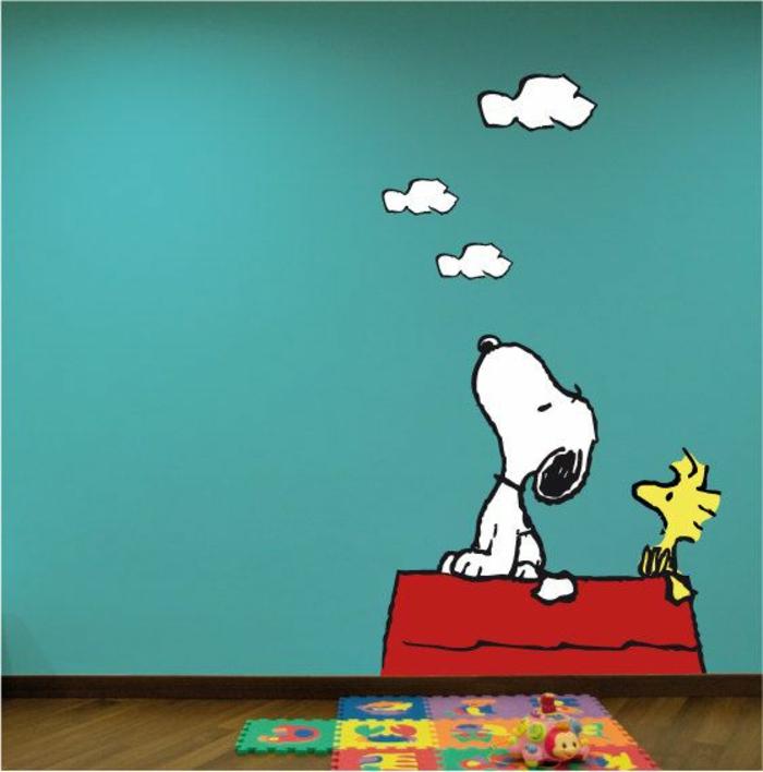 wandsticker-Snoopy-Wolken-lustig-süß