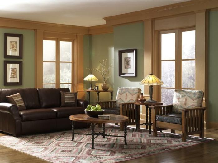 farbgestaltung wohnzimmer in braun