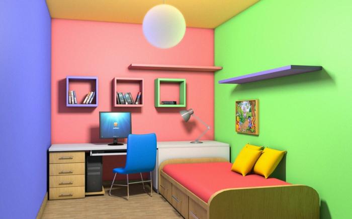 63 kreative ideen f r wandfarben kombinationen - Wandfarben fur jugendzimmer ...