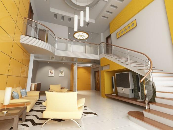 wanfarben-kombinationen-grau-und-gelb-wunderschönes-aussehen