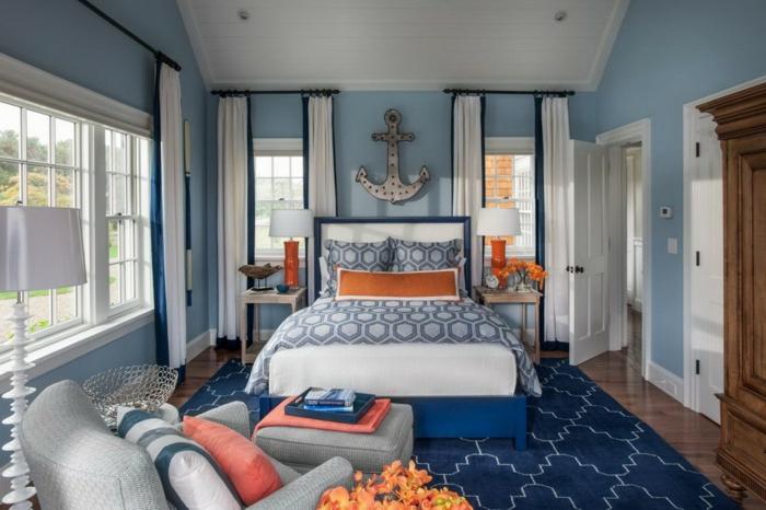 Tapeten Kombinationen Schlafzimmer : sehr sch?ne farbkombinationen wohnen – ein anker ?ber dem bett