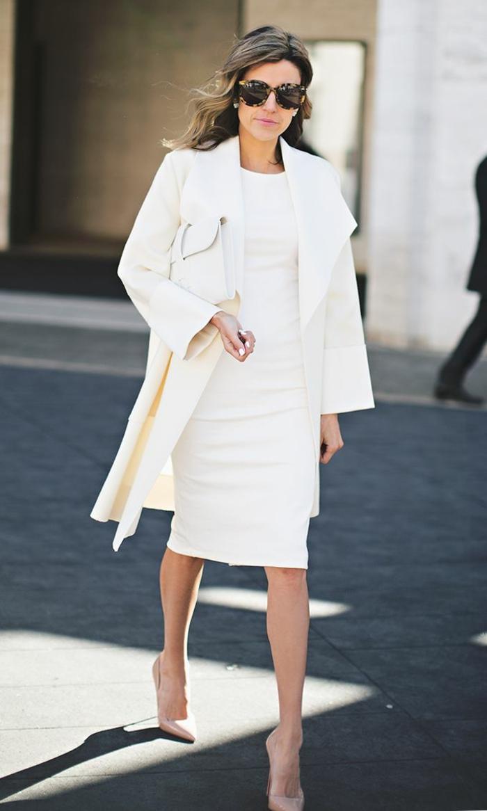 weiße-Kleidung-Mantel-Kleid-Clutch-super-elegant